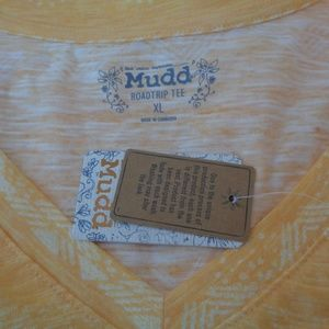 Mudd Tops - Mudd Burnout Roadtrip Tee T-Shirt Gold Top NEW